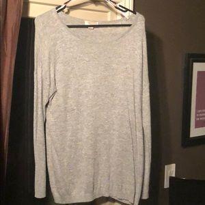 Light knit scoop knock sweater